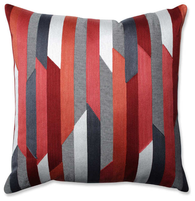 Eclectic Couch Pillows : Dakota Coral-Grey 18