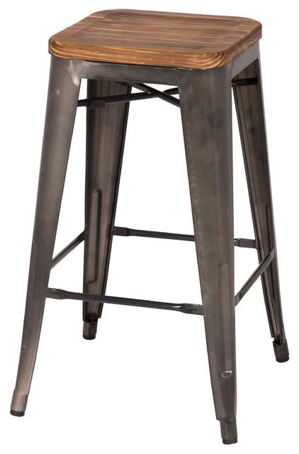 Grand Counter Stools Set of 4 Gunmetal industrial-bar-stools-and  sc 1 st  Houzz & Grand Metal Counter Stools Set of 4 - Industrial - Bar Stools And ... islam-shia.org