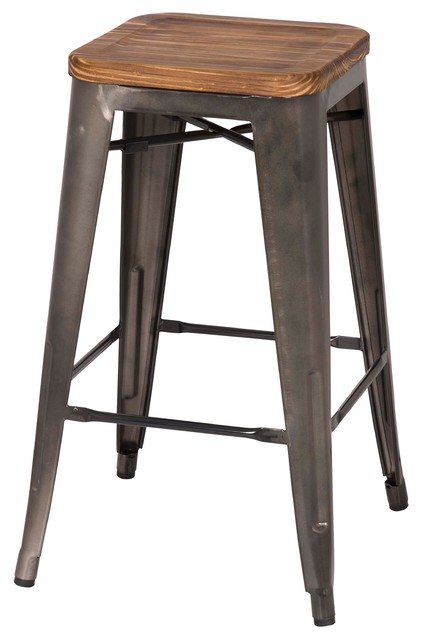 Grand Metal Counter Stools Set Of 4 Contemporary Bar