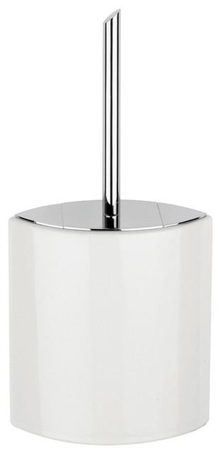 Glam 1651 Toilet Brush Holder in Ceramic White