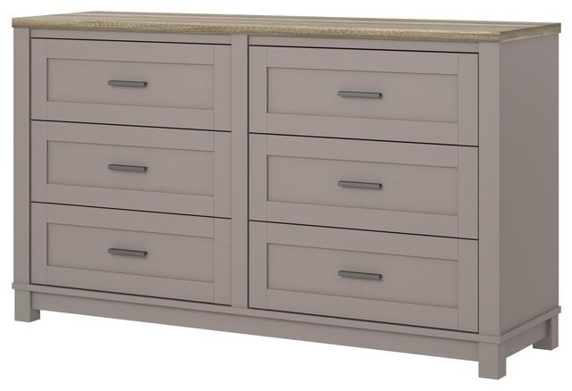 Savannah 6 Drawer Dresser, Gray.