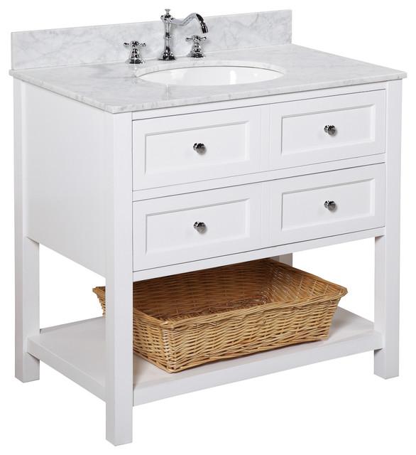 New Yorker Bath Vanity, Base: White, 36\