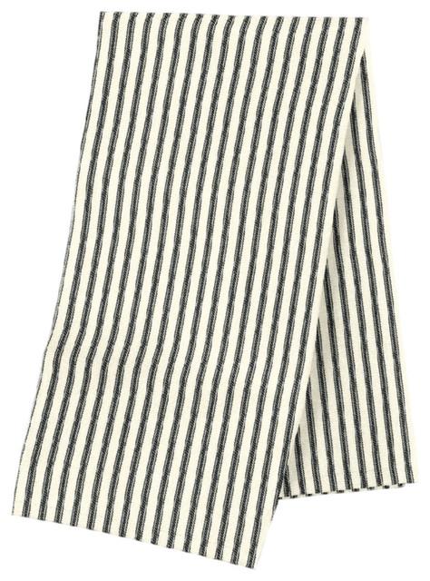 Black Ticking Stripe Napkin Set Of 4 Traditional