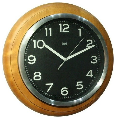 Quality Wall Clock Rosewood - Contemporary