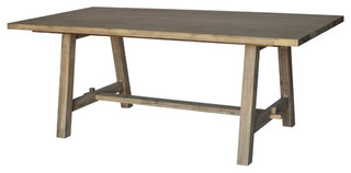 Bedford Dining Table, Brushed Smoke