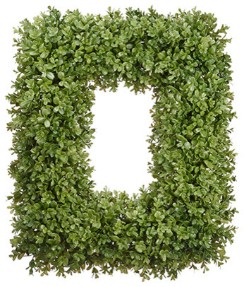 Silk Plants Direct Boxwood Wreath, Pack Of 1.