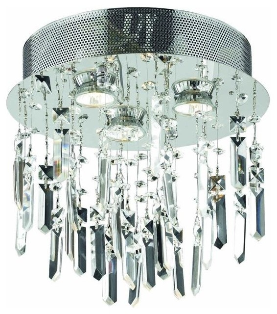 2006 Galaxy Collection Flush Mount Prism Drops, Elegant Cut.