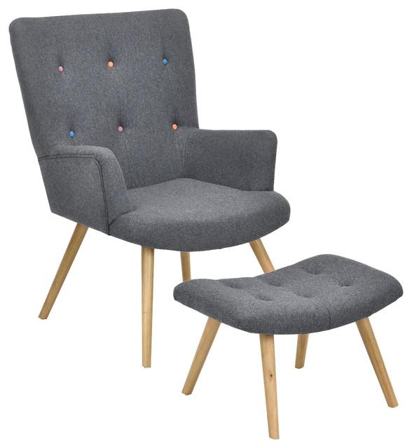 fauteuil scandinave repose pieds r tro fauteuil autres p rim tres par pi ce vivre. Black Bedroom Furniture Sets. Home Design Ideas