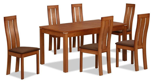 Contemporary Extendable Designer Table And Chairs Set Modern