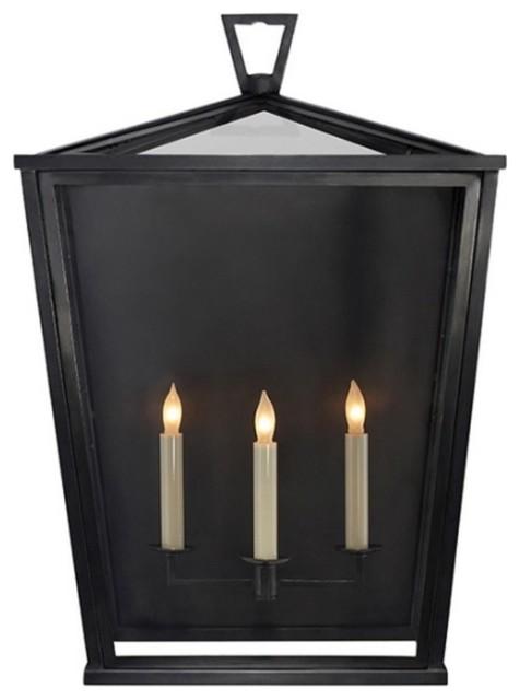 "E. F. Chapman Darlana Outdoor Lantern, Bronze, Large 25"""