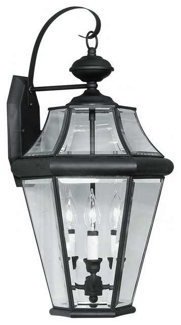 External Wall Lights Traditional : Black Wall Lantern - Traditional - Outdoor Wall Lights And Sconces - by We Got Lites