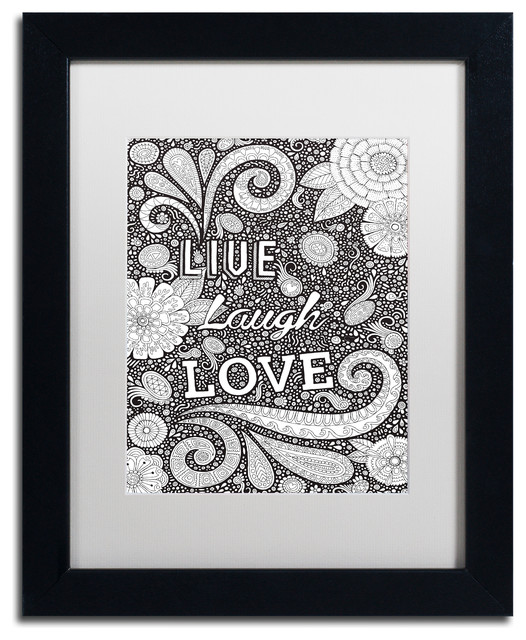Hello Angel Live Laugh Love Black Art Contemporary Prints And Posters By Trademark Global