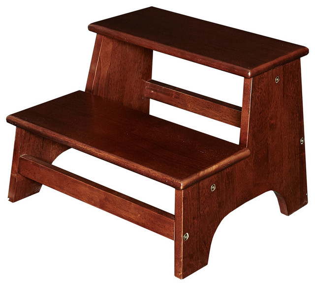 """Alfi Brand 24"""" Solid Wood Stepping Stool For Easy Access"""