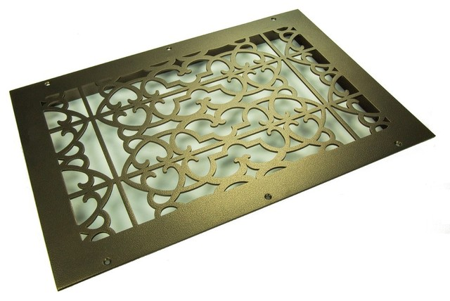 "Renaissance Solid Steel Return Grille, Oil Rubbed Bronze, 24""x24 Return."