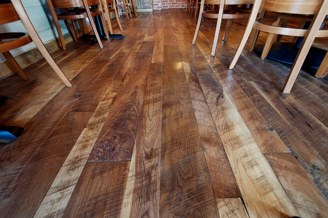 Circle Sawn Wood ~ Woodland cut circle sawn walnut flooring traditional