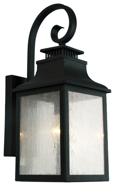 Morgan 1 Light Outdoor Wall Mounted Lighting In Imperial Black Finish