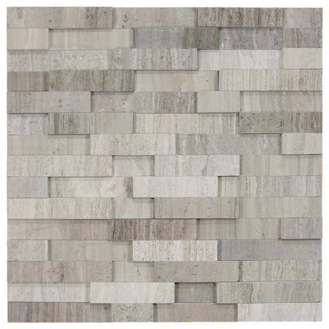 12 X12 Polished Gray Brick Stone Tile