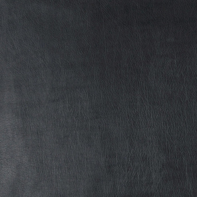 Black Fine Leather Grain Smooth Faux Leather Vinyl By The Yard