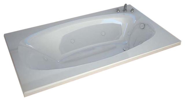 "Venzi Talia 36""x72"" Rectangular Whirlpool Jetted Bathtub By Atlantis"