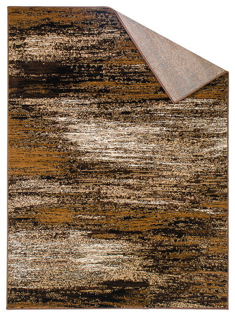 Handcraft Rugs Chocolate Brown Gold Abstract
