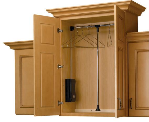 Rev A Shelf, Adjustable Pull Down Closet Rod, Chrome, 18