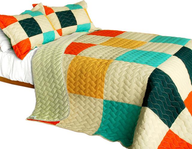 Dream Catcher Vermicelli-Quilted Patchwork Quilt, 3-Piece Set ... : patchwork quilt sets - Adamdwight.com