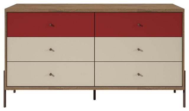 "Joy 59"" Double Dresser, Red."