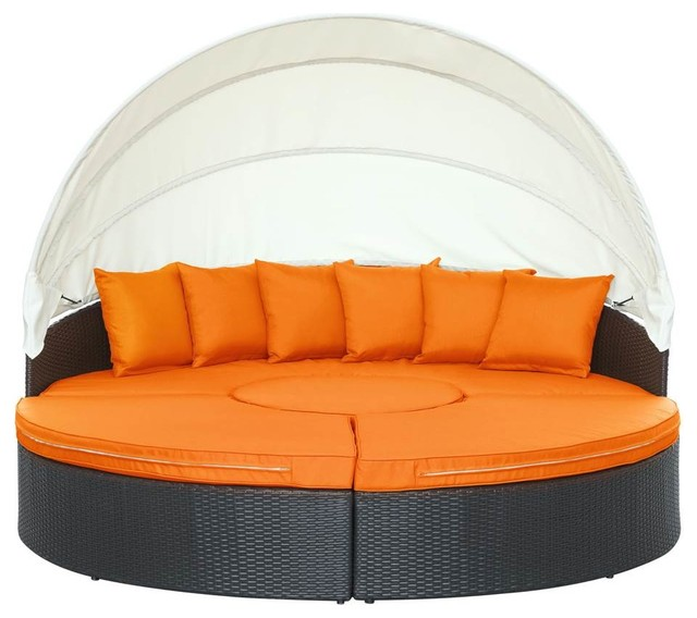 Quest Canopy Outdoor Patio Daybed Tropical Outdoor