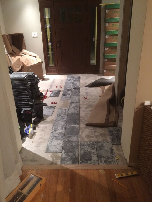 Tile In Entry Parallel Or Perpendicular To Door