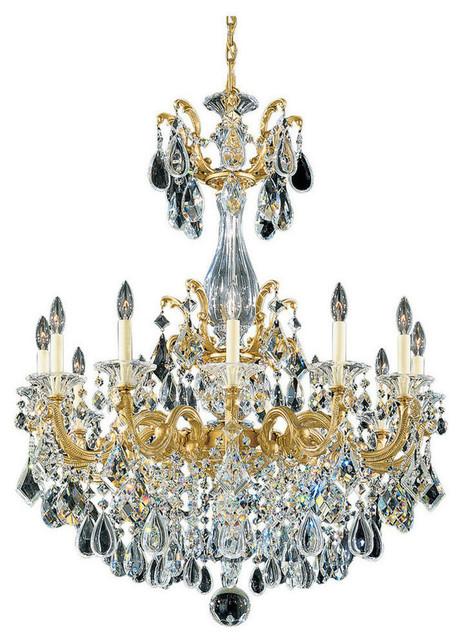 La Scala 12 Light 33 Quot W Chandelier Traditional