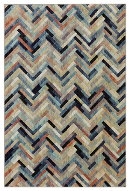 Caftan Stripe Multi Rug, 8u0027x11u0027 Transitional Area Rugs