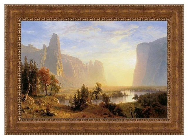 Yosemite Valley, 1868: Canvas Replica Framed Painting, Large.