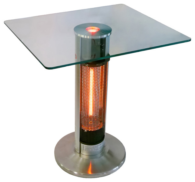Infrared Electric Outdoor Heater Bistro Table Contemporary Pub And