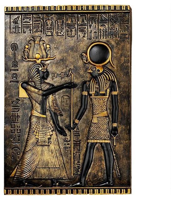 Ancient Egyptian Horus Wall Decor Temple Stele Plaque