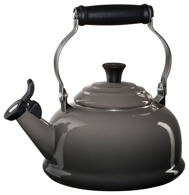 Le Creuset, Enamel On Steel 1.75-Quart Whistling Tea Kettle, Oyster.