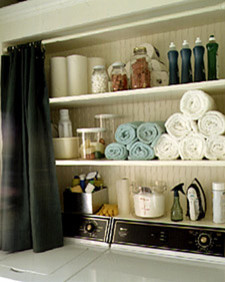 Martha Stewart Storage idea eclectic laundry room