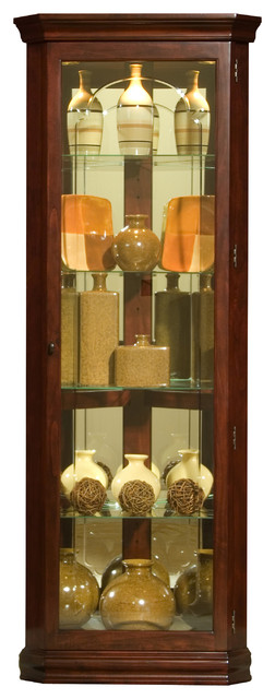 Victorian Cherry Mirrored Corner Curio - Display And Wall Shelves - by ...