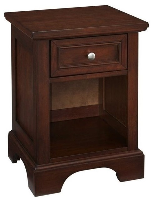 Hawthorne collections 1 drawer nightstand cherry - Hawthorne bedroom furniture collection ...