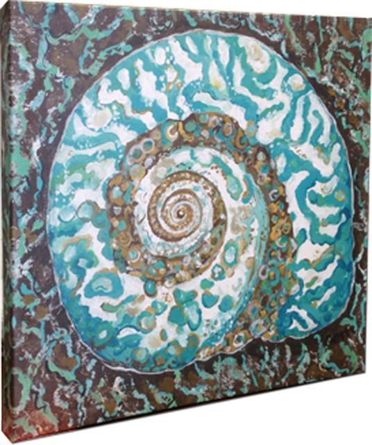 "Nautilus Shell Canvas Art, 20x20"""