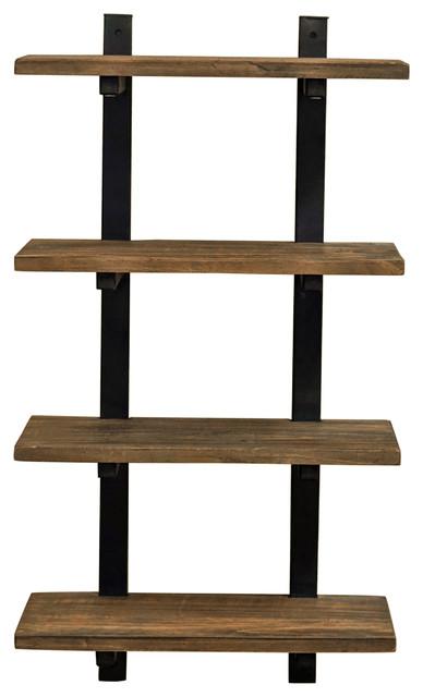 Shelf Metal And Solid Wood