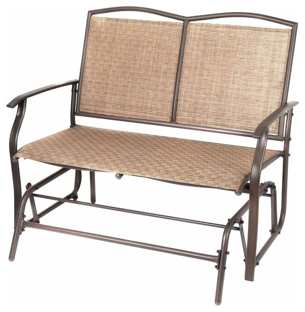 Patio Swing Glider Bench Chair Tropical Outdoor