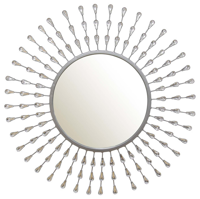 Stratton Home Decor Melissa Tear Drop, Mirror.