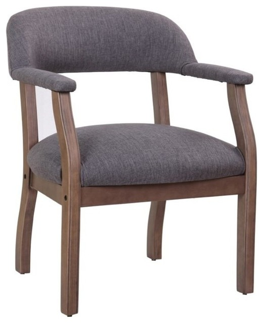Boss Refined Rustic Accent Chair Slate Gray Commercial