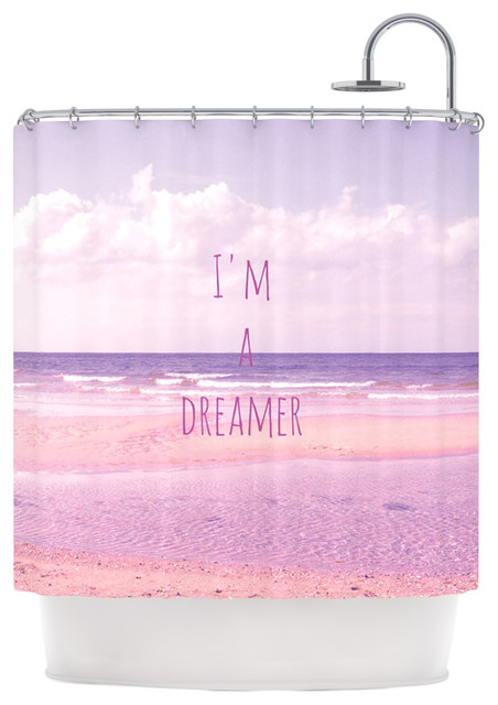 Iris Lehnhardt Quot I M A Dreamer Quot Beach Pink Shower Curtain