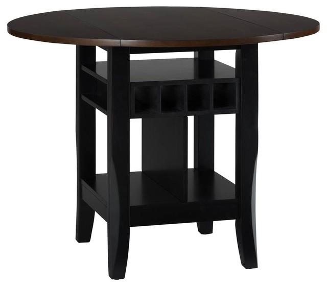 Round Drop leaf Counter Height Table Contemporary  : contemporary dining tables from www.houzz.com size 640 x 560 jpeg 31kB