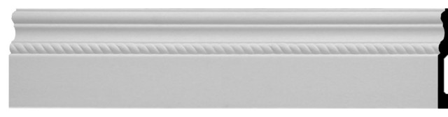 "Oslo Rope Baseboard Molding, 6""h X 5/8""p X 96""l."