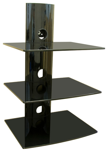 Dual Glass DVDDVRComponent Wall Mount Shelf - Contemporary - Entertainment Centers And Tv Stands ...