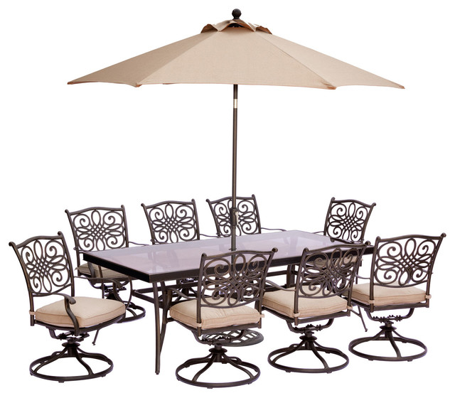 Dining Set Tan With Table 11