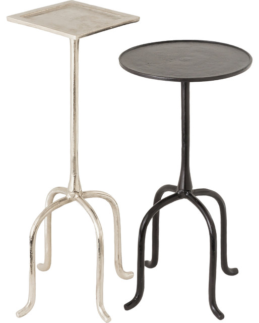 Darica Aluminum Nickel And Bronze Accent Tables.