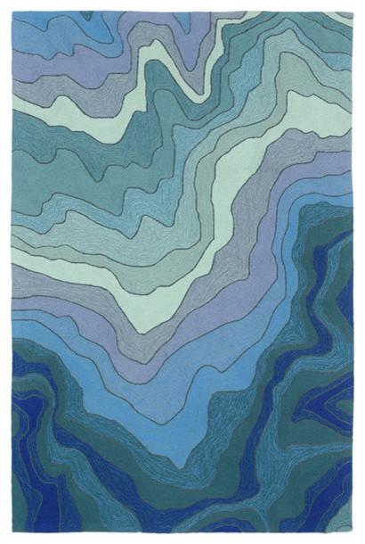 "Trans-Ocean Inc., Ravella, 8&x27;3""x11&x27;6"" Blue Rug."